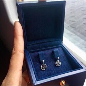 Louis Vuitton 18k gold earrings with diamond